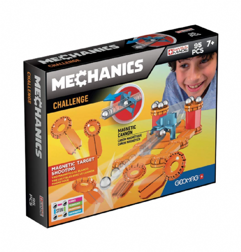 Geomag Magnetic Mechanics Challenge target Shooting 95 Pieces Set Kids Gift Toy